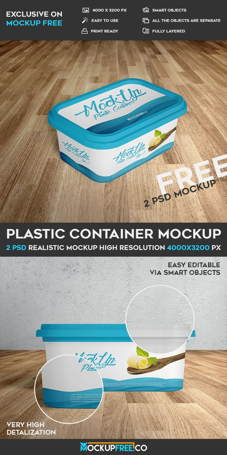 Download Plastic Container - 2 Free PSD Mockups | Download