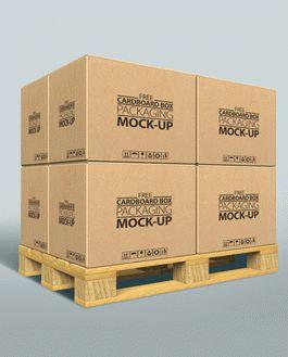 Download Free Cardboard Box Packaging MockUp | Download