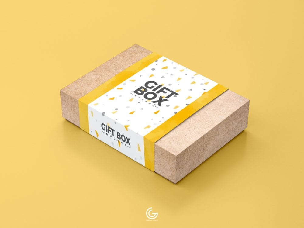 Download Craft Paper Gift Box Mockup PSD Template - Mockup Free ...