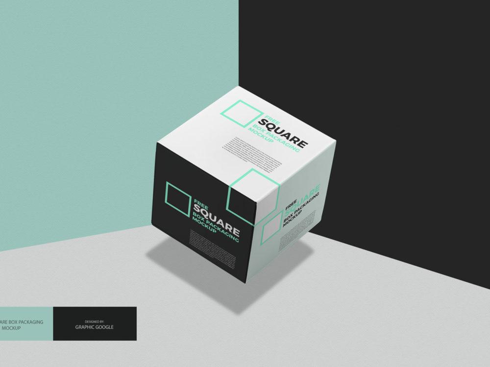 Download Free Square Box Packaging Mockup - Mockup Free Downloads