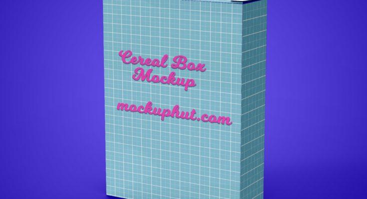Download Free Cereal Box Mockup PSD Mockuphut Exclusive - Mockup Hut
