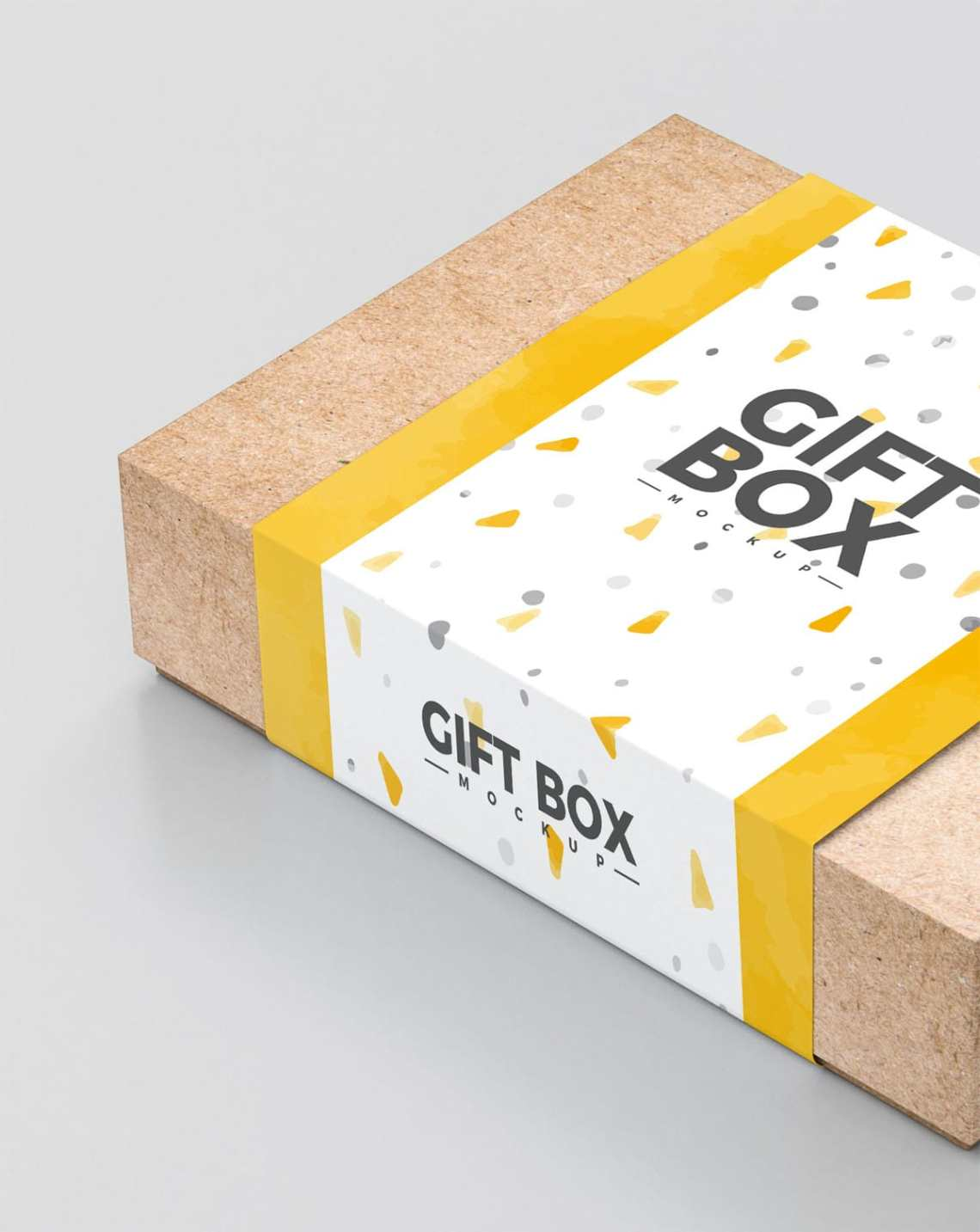 Download Free Craft Paper Gift Box Mockup - Find the Perfect ...