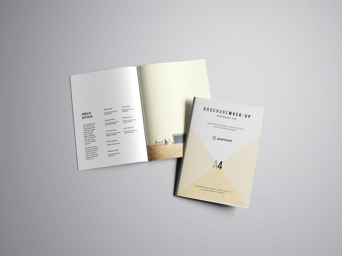 Download 25+ Perfect A4 Brochure Mockup PSD Templates | Mockuptree