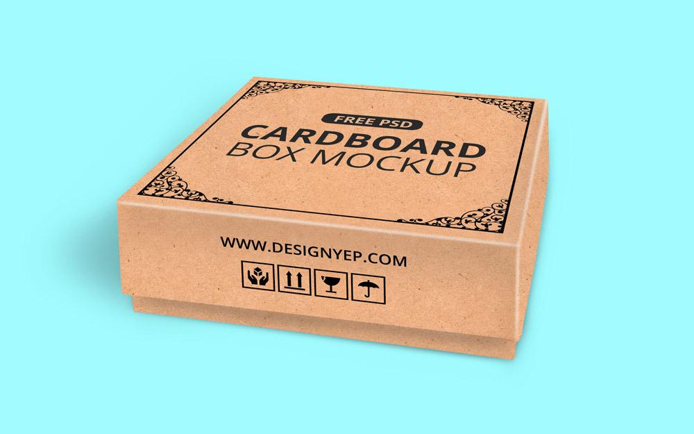 Download Free Cardboard Box Mockup PSD | Mockuptree