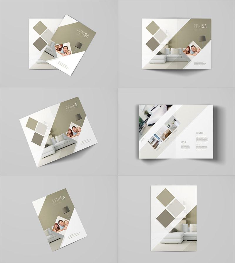 Download Free A4 Bi-Fold Brochure Mockup | Mockuptree