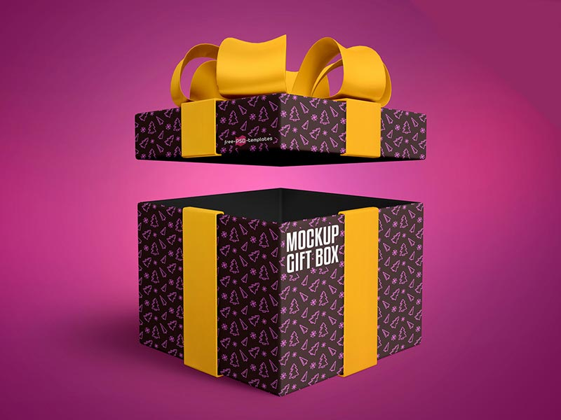 Download Free Gift Box Mockup in PSD | Mockuptree