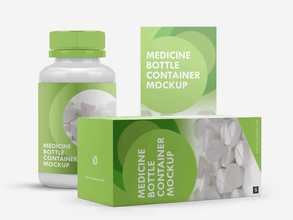 Download Free Medicine Bottle Mockup | Mockuptree
