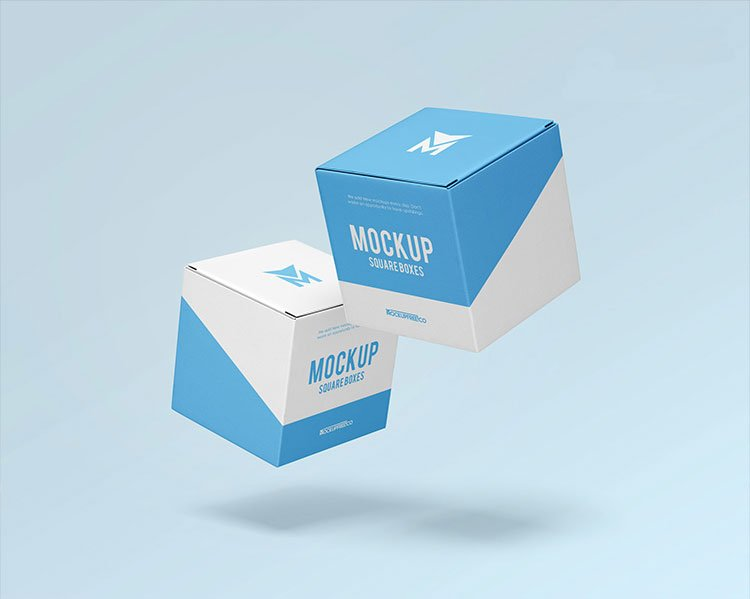 Download Free Square Boxes Mockups | Mockuptree