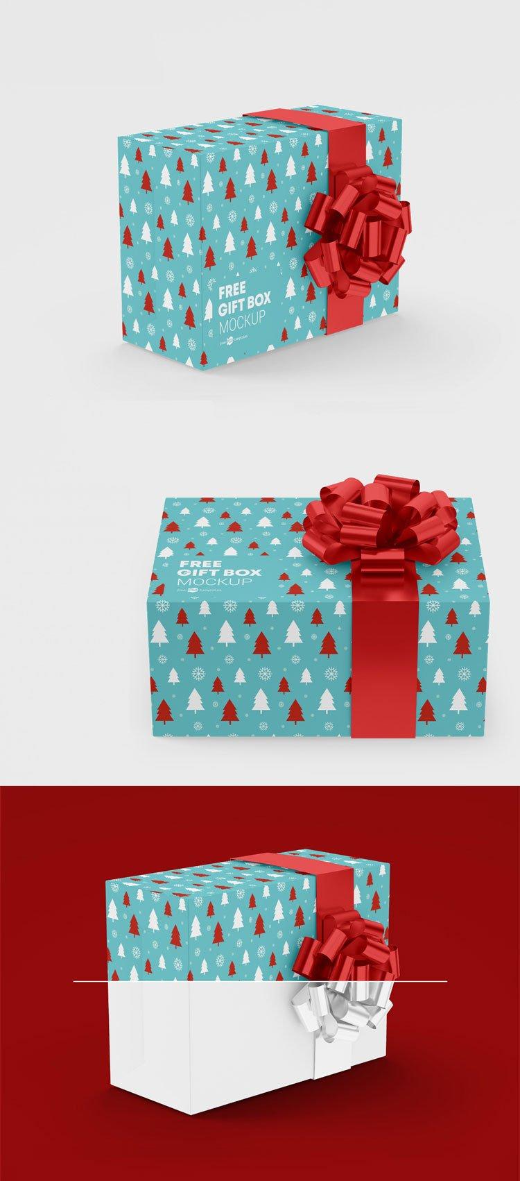 701+ Free Gift Box Mockup Mockups Design