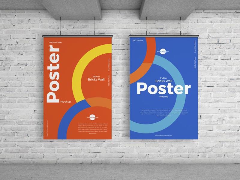 free poster mockup for branding