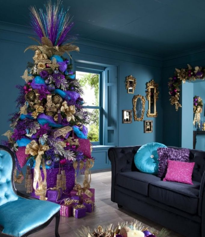 Christmas Decorations In Purple: 20 Inspiring Christmas Tree Decorating Ideas