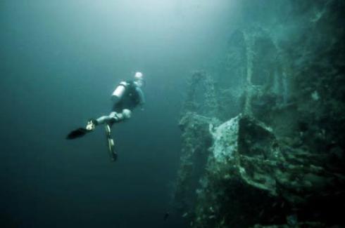 The Doty  shipwreck, Lake Michigan, Milwaukee, USA