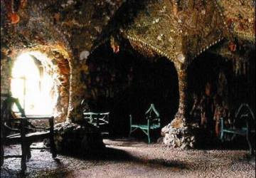 interior of the shell grotto