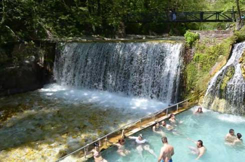 hot springs Loutra Pozar , Aridaia Greece