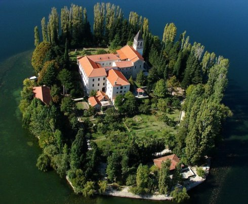 Krka National Park lies on Visovac island, Croatia 4