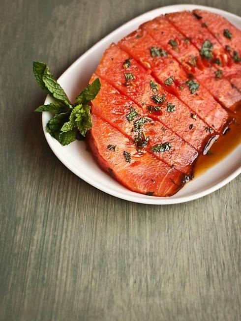 easy and refreshing watermelon honey mint treats