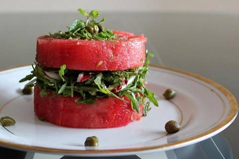 easy and refreshing watermelon salad