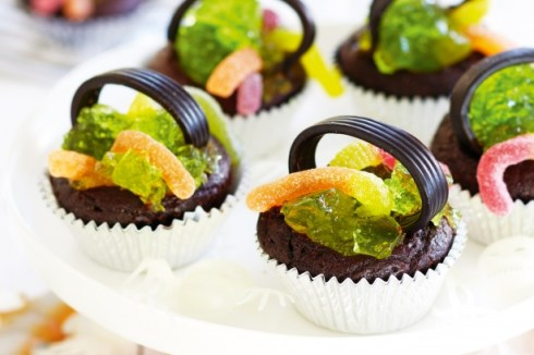 Easy and cute jelly cupcakes halloween recipe