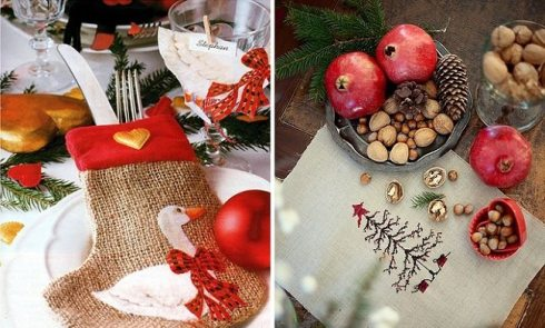 creative christmas table decor ideas  with red color 10