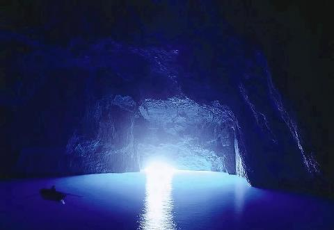 Beautiful Cave in Greek island 2