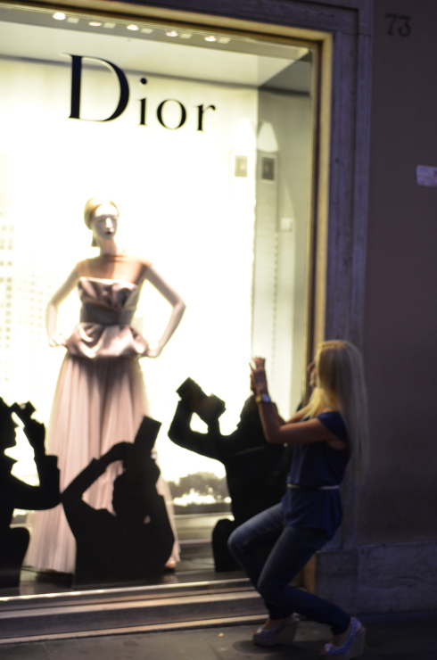 Shopping in Rome, Dior