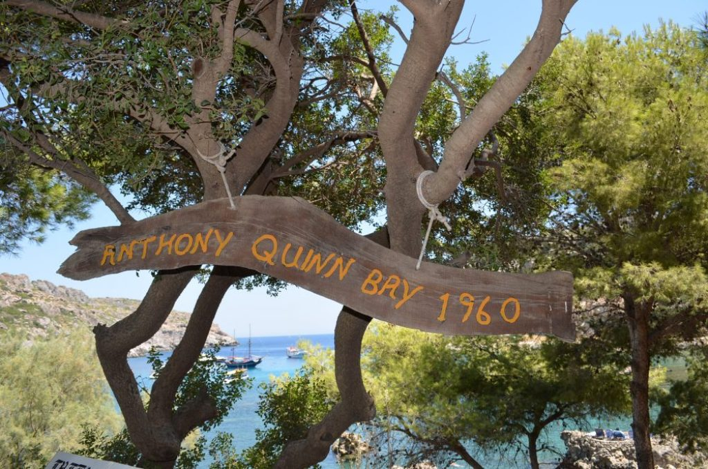 Best beaches of the Greek island Rhodes, Anthony Quinn 4