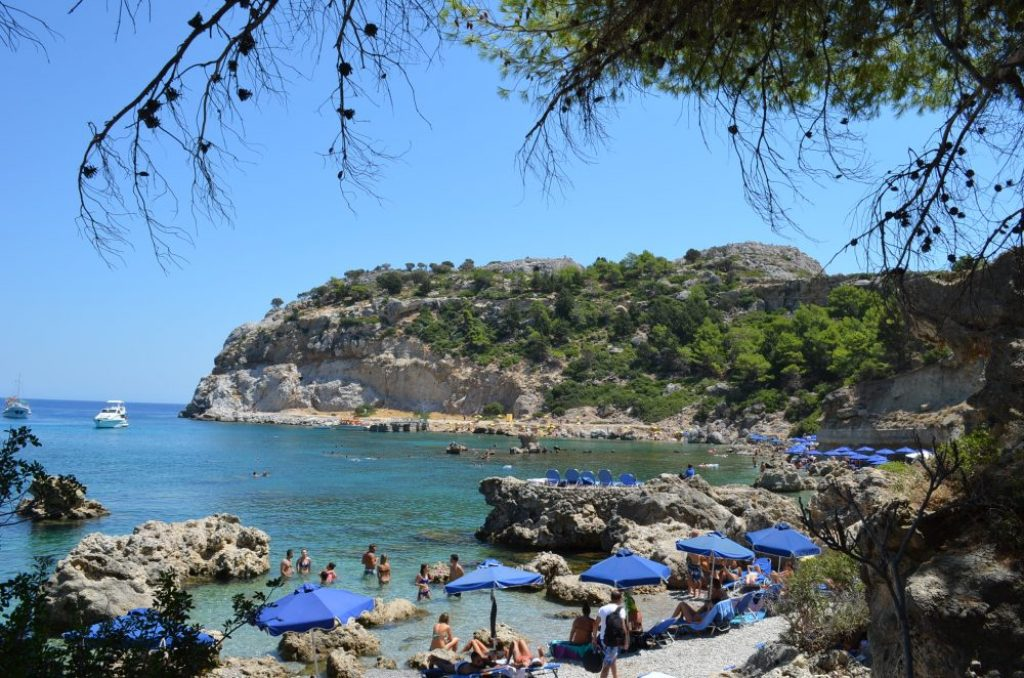Best beaches of the Greek island Rhodes, Anthony Quinn 2