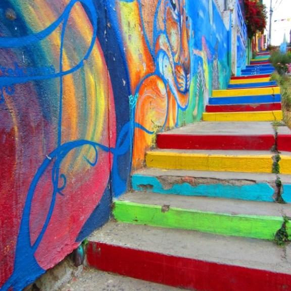 nghệ thuật đường phố cầu thang tuyệt vời trên khắp thế giới, Chile