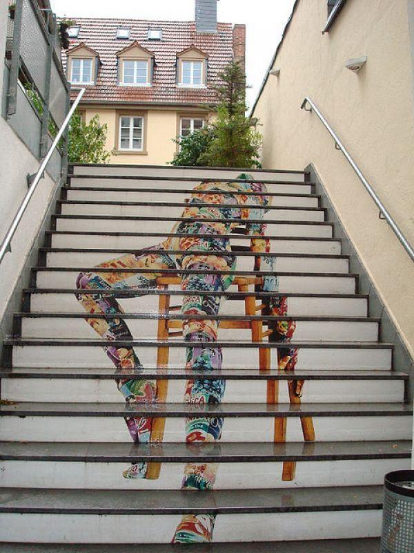 Nghệ thuật đường phố cầu thang tuyệt vời