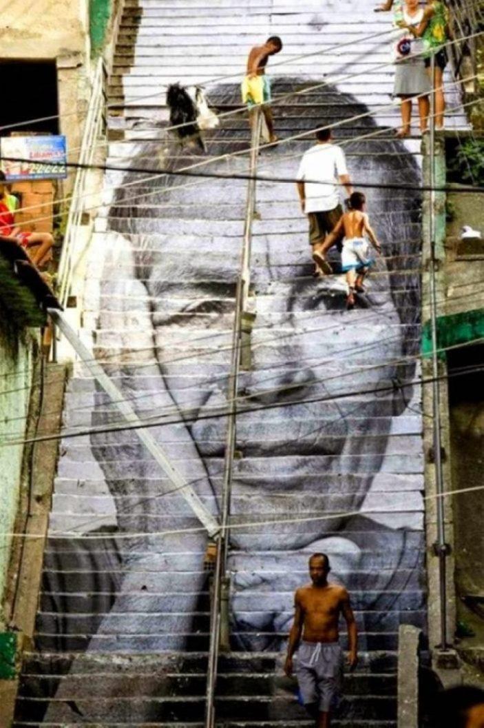 nghệ thuật đường phố cầu thang tuyệt vời trên khắp thế giới, Rio de Janeiro Brazil