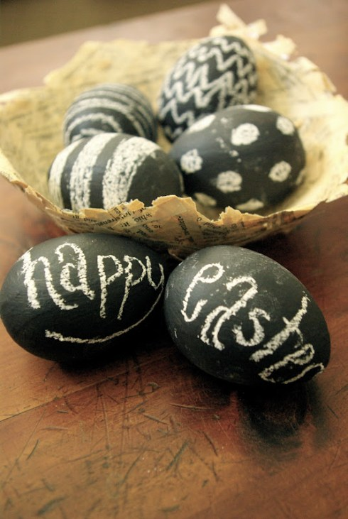DIY chalkboard creative easter eggs
