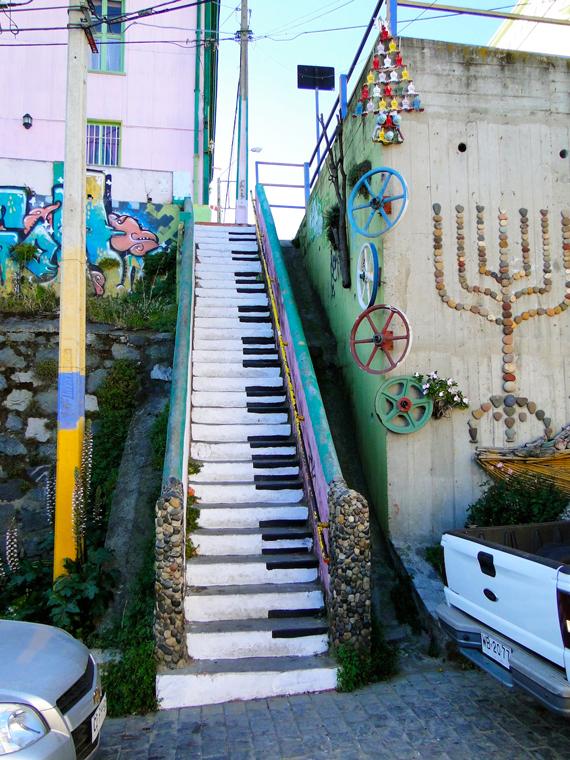 nghệ thuật đường phố cầu thang tuyệt vời trên khắp thế giới, Chile 4
