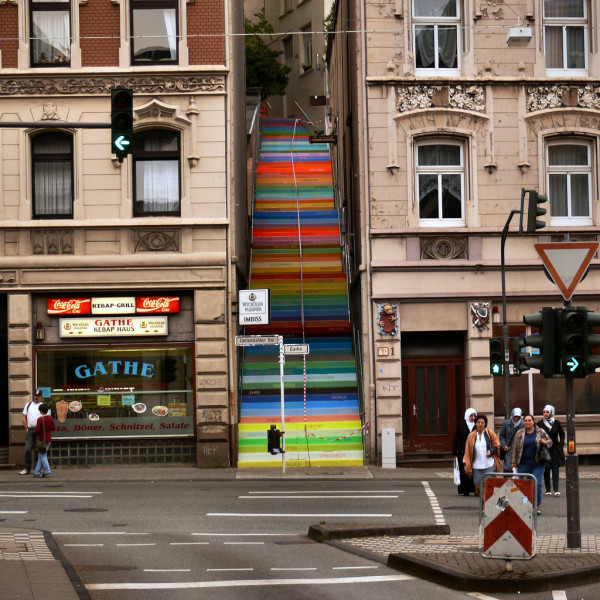 amazing stairs street art around the world, Wuppertal, Germany 2