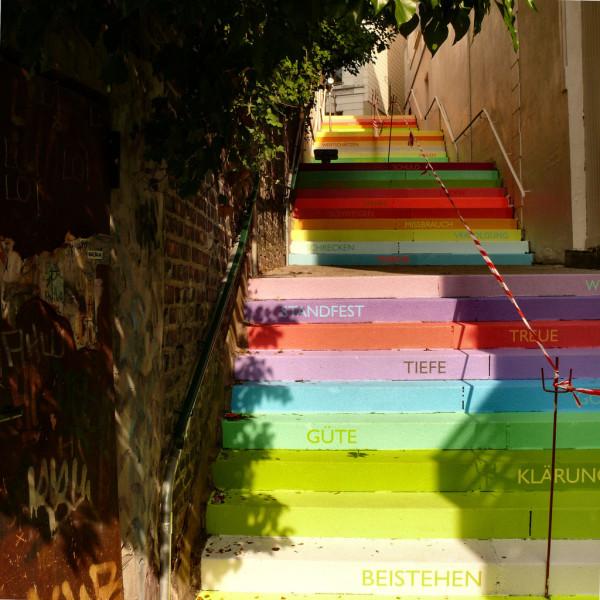 nghệ thuật đường phố cầu thang tuyệt vời trên khắp thế giới, Wuppertal, Đức