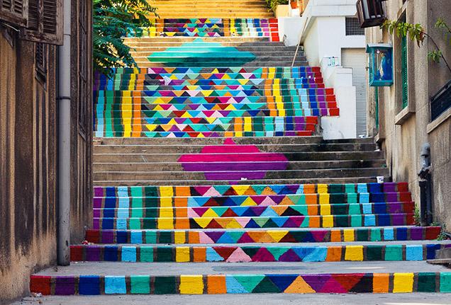 nghệ thuật đường phố cầu thang tuyệt vời trên khắp thế giới, Lebanon