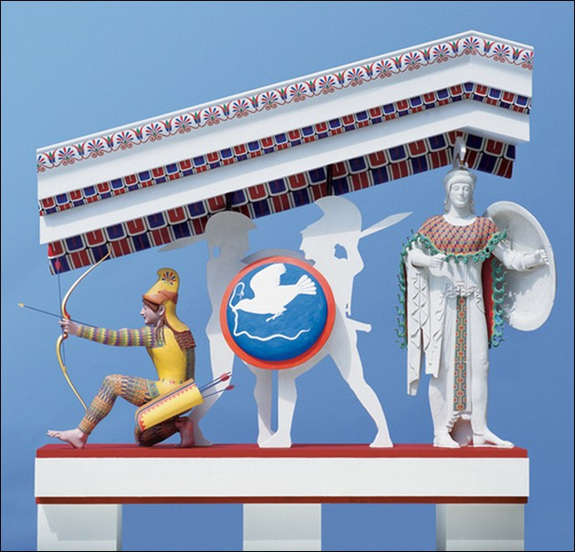 the original colors of ancient Greek and Roman sculptures