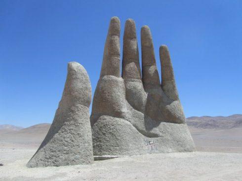 Chilean Sculpture of Mario Irarrázaal.