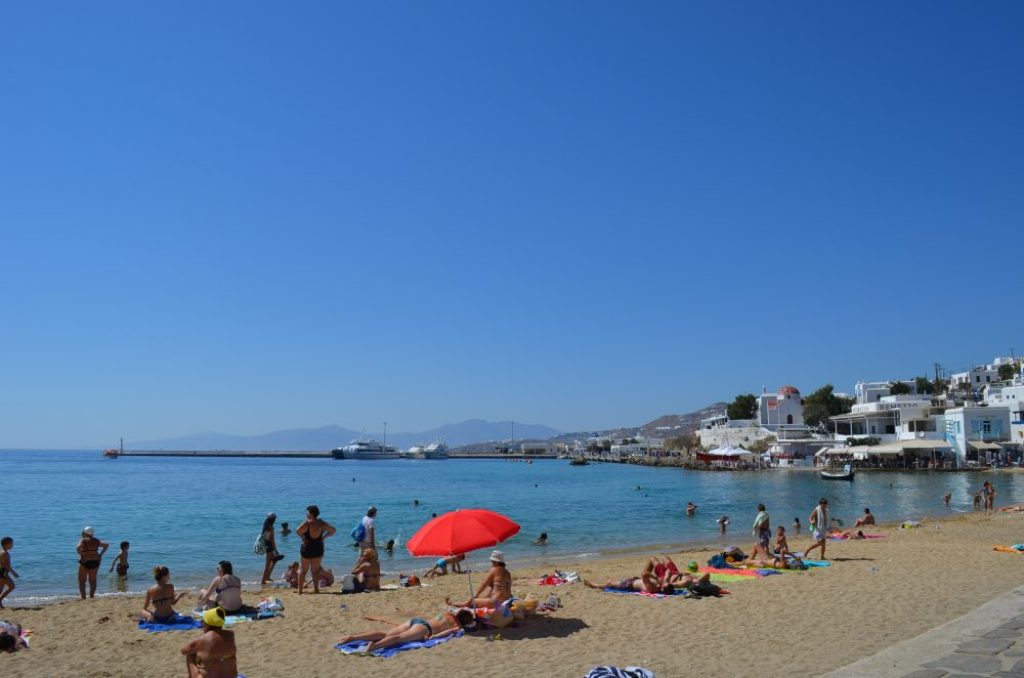 interesting things to see in Greek island Mykonos, Mykonos beach
