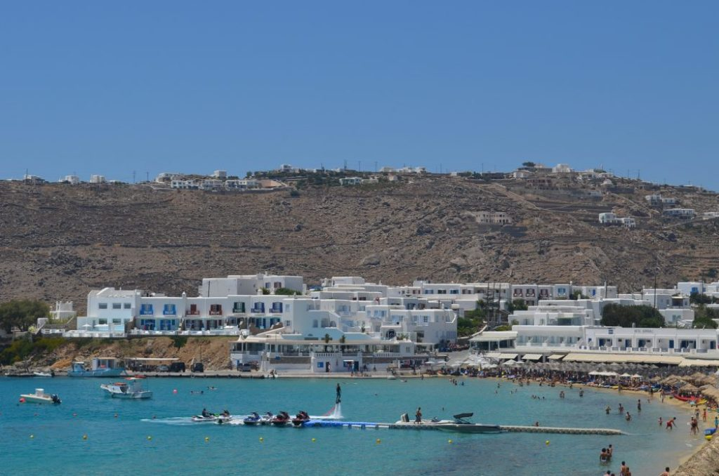 interesting things to see in Greek island Mykonos, Platys Gialos beach 5