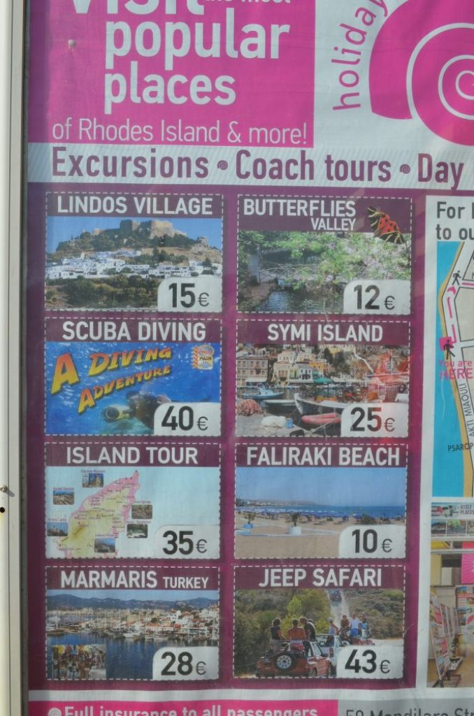 interesting things to see in island Rhodes, excursions