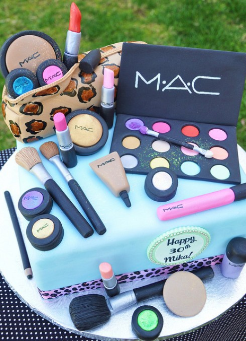 ideas for creative cake design, mac makeup