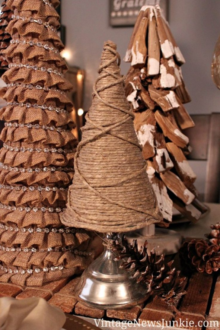 DIY unusual twine christmas tree