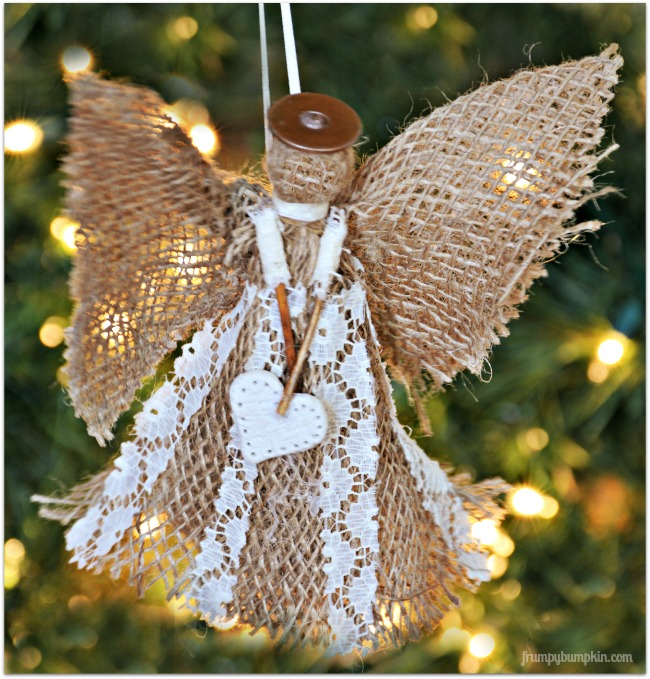 diy christmas ornament, angel