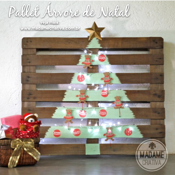 rustic christmas tree , painted on pallet