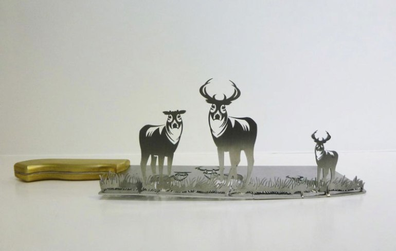 Incredible carved silhouette sculptures by Angela Li