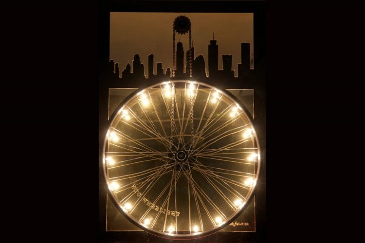 innovative lighting art, NY wheel light