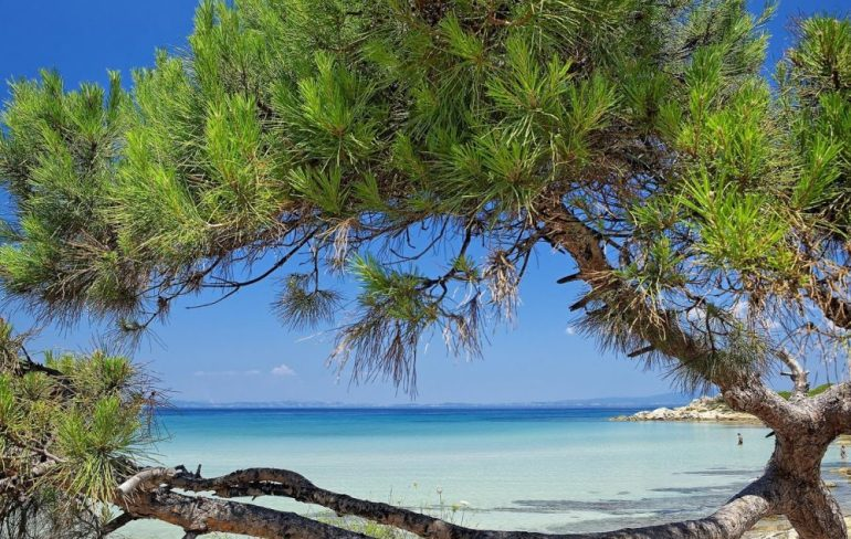 stunning beach in Chalkidiki, Paliouri