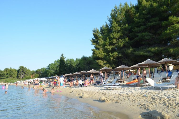 Greece Halkidiki Paliouri beach, best beach bar in Halkidiki, Kursaros