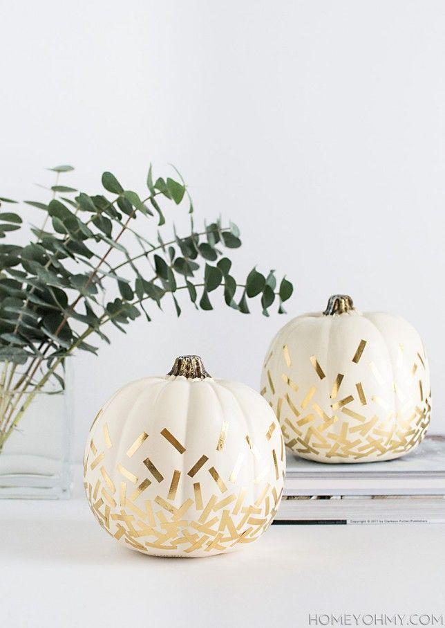 Easy, Pretty and Creative Pumpkin Decorating Ideas - Moco-choco