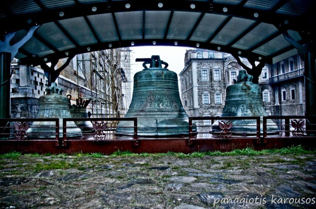 Huge Bells at Mount Athos, Chalkidiki